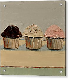 Cupcake Acrylic Print by Lindsay Frost