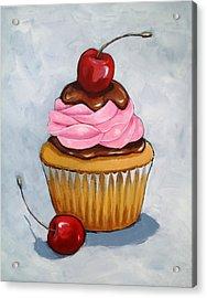 Cupcake With Cherries Acrylic Print