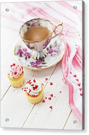 Acrylic Print featuring the photograph Cupcakes And Coffee by Rebecca Cozart