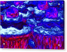 Cupcakes V4 - Painterly Acrylic Print by Wingsdomain Art and Photography