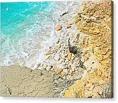 The Sea Below Acrylic Print by Expressionistart studio Priscilla Batzell