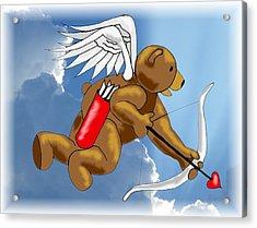 Cupid Bear Acrylic Print by Scarlett Royal