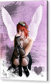 Cupid Acrylic Print by Crispin  Delgado