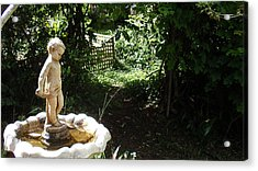 Cupid Of The Garden Acrylic Print by Edan Chapman