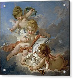 Cupids, Allegory Of Poetry Acrylic Print