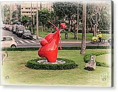 Acrylic Print featuring the photograph Cupid's Heart  by Mary Machare