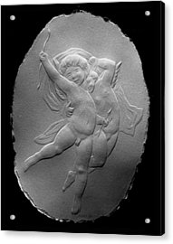 Acrylic Print featuring the relief Cupids by Suhas Tavkar