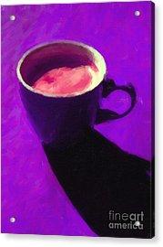 Cuppa Joe - Purple Acrylic Print by Wingsdomain Art and Photography