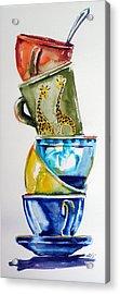 Cups Acrylic Print by Kovacs Anna Brigitta