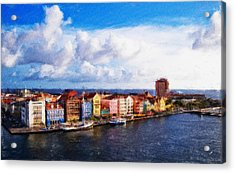 Curacao Oil Acrylic Print by Dean Wittle