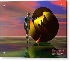 Curiosity Acrylic Print by Sandra Bauser Digital Art