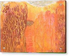 Curious Cove Acrylic Print by Anne-Elizabeth Whiteway
