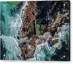 Acrylic Print featuring the photograph Curl Curl Pool by Chris Cousins