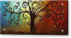 Curly Branches Tree Acrylic Print by Elaine Hodges