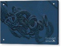 Acrylic Print featuring the digital art Curly Swirly by Kim Henderson