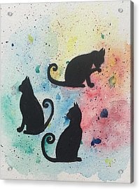 Curly Tails Acrylic Print