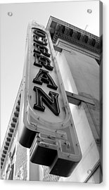 Curran Sign Acrylic Print by Douglas Pike