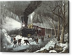Currier And Ives Acrylic Print