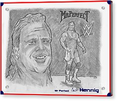 Curt Hennig- Mr Perfect Acrylic Print by Chris  DelVecchio