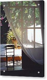 Curtain Acrylic Print by Andrea Simon