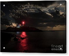 Curtain Call At Nubble Lighthouse Acrylic Print by Scott Thorp