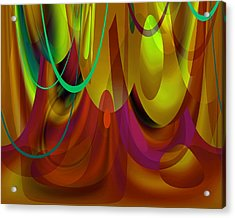 Curtain Call Acrylic Print by Lynda Lehmann