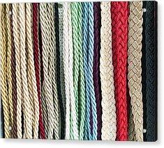 Curtain Cords Acrylic Print by Tom Gowanlock