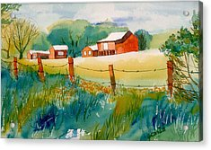 Acrylic Print featuring the painting Curtis Farm In Summer by Yolanda Koh