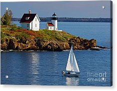Curtis Island Lighthouse - D002652b Acrylic Print by Daniel Dempster
