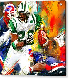 Curtis Martin New York Jets Acrylic Print by Lourry Legarde