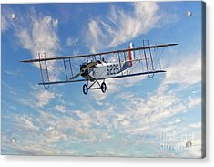 Curtiss Jn-4h Biplane Acrylic Print by Jerry Fornarotto
