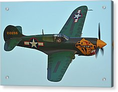 Acrylic Print featuring the photograph Curtiss P-40k Warhawk N401wh Chino California April 29 2016 by Brian Lockett