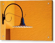 Curved Outdoor Light Bright Yellow Wall Acrylic Print