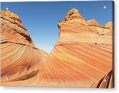 Curves In The Wave Acrylic Print by Tim Grams