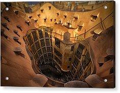 Curves Of Gaudi Acrylic Print by Kurt Hansen