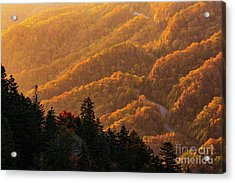 Smoky Mountain Roads Acrylic Print