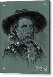 Custer's Resolve Acrylic Print