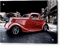 Custom Car On Street Acrylic Print