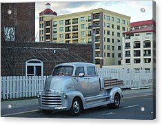 Acrylic Print featuring the photograph Custom Chevy Asbury Park Nj by Terry DeLuco