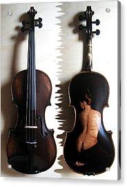 Custom Gliga Violin 2 Acrylic Print by Dino Muradian