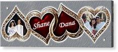 Acrylic Print featuring the photograph Custom Hearts by Shane Bechler