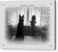 Custom Paw Print   Nero Acrylic Print