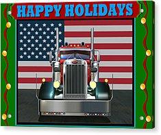 Custom Pete Happy Holidays Acrylic Print by Stuart Swartz