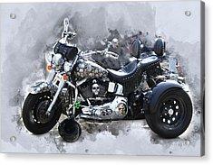 Customized Harley Davidson Acrylic Print