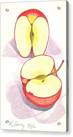 Cut Apple Acrylic Print