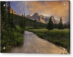 Cut Bank Creek At Sunset Acrylic Print