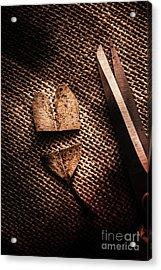 Cut Heart Leaf, Fall Of Love Acrylic Print by Jorgo Photography - Wall Art Gallery