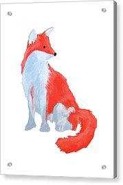 Cute Fox With Fluffy Tail Acrylic Print