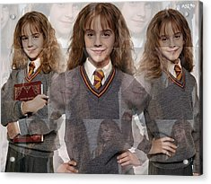 Cute Hermione Granger Acrylic Print by F S