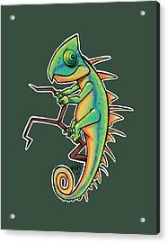 Cute Iguana Acrylic Print
